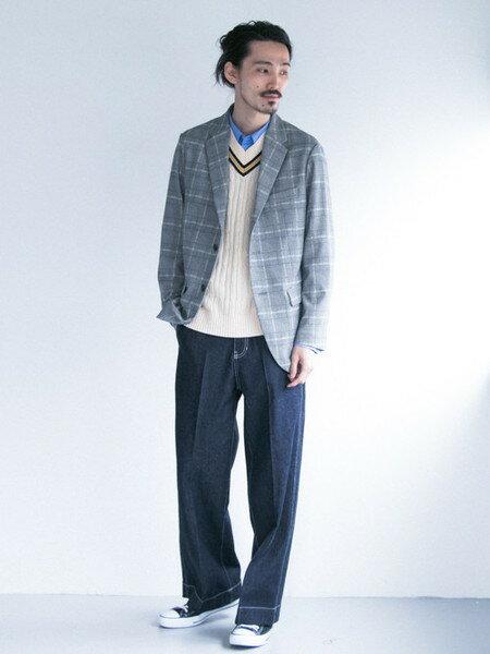 URBAN RESEARCHさんのジーンズその他「WIDE DENIM PANTS」を使ったコーディネートを紹介します。 ファッション通販楽天ブランドアベニュー(旧スタイライフ Stylife)20113