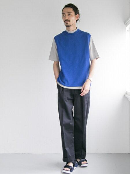 URBAN RESEARCHさんのパンツその他「コットンサテンワイドトラウザー」を使ったコーディネートを紹介します。|ファッション通販楽天ブランドアベニュー(旧スタイライフ Stylife)22914
