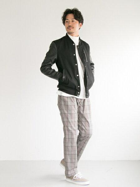 URBAN RESEARCHさんのスタジャン「メルトン/ラムレザースタジャン」を使ったコーディネートを紹介します。|ファッション通販楽天ブランドアベニュー(旧スタイライフ Stylife)25635