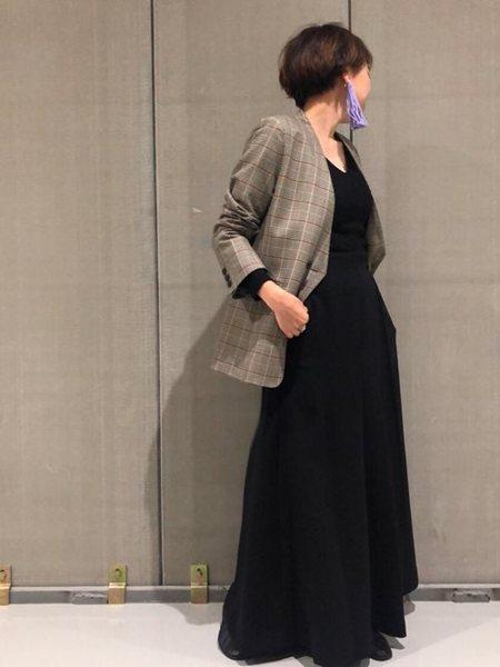 URBAN RESEARCHさんのコート/ジャケットその他「コスミカルウォームチェックノーカラージャケット」を使ったコーディネートを紹介します。|ファッション通販楽天ブランドアベニュー(旧スタイライフ Stylife)26703