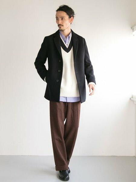 URBAN RESEARCHさんのチェスターコート「ショートチェスターコート」を使ったコーディネートを紹介します。|ファッション通販楽天ブランドアベニュー(旧スタイライフ Stylife)27159