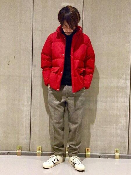 URBAN RESEARCHさんのダウンジャケット「グリーンダウンスタンドブルゾン」を使ったコーディネートを紹介します。|ファッション通販楽天ブランドアベニュー(旧スタイライフ Stylife)28575