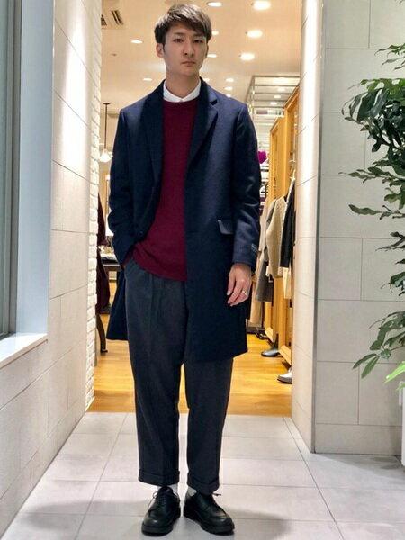 URBAN RESEARCHさんのチェスターコート「CHESTER FIELD COAT」を使ったコーディネートを紹介します。|ファッション通販楽天ブランドアベニュー(旧スタイライフ Stylife)29075