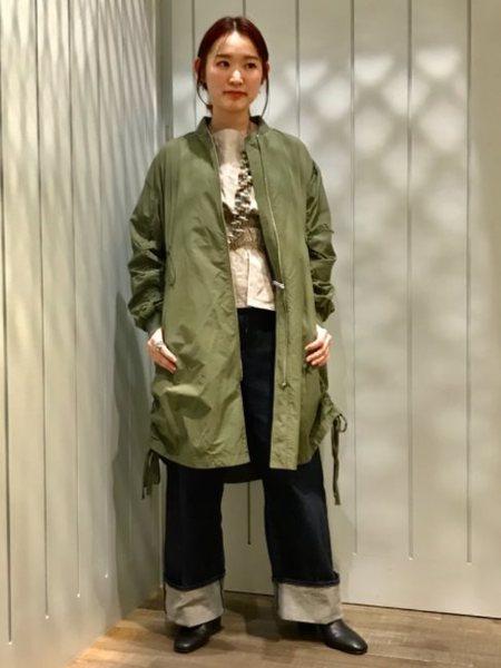 BEAMS WOMENさんのロングコート「ドローコードZipコート」を使ったコーディネートを紹介します。|ファッション通販楽天ブランドアベニュー(旧スタイライフ Stylife)19255