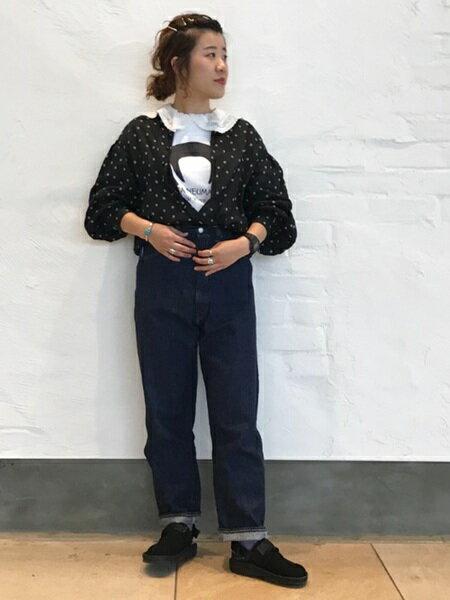 BEAMS WOMENさんのソックス/靴下「BEAMS BOY / タイダイ リブ ソックス ビームスボーイ 靴下」を使ったコーディネートを紹介します。|ファッション通販楽天ブランドアベニュー(旧スタイライフ Stylife)21540