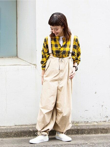 BEAMS WOMENのBEAMS BOY / US ARMY オーバー パンツを使ったコーディネートを紹介します。|Rakuten Fashion(楽天ファッション/旧楽天ブランドアベニュー)24312
