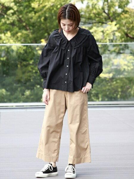 BEAMS WOMENさんの長袖シャツ「BEAMS BOY / 40ブロード ヴィクトリアン ブラウス ビームス ボーイ レディース シャツ 長袖」を使ったコーディネートを紹介します。 ファッション通販楽天ブランドアベニュー(旧スタイライフ Stylife)25177