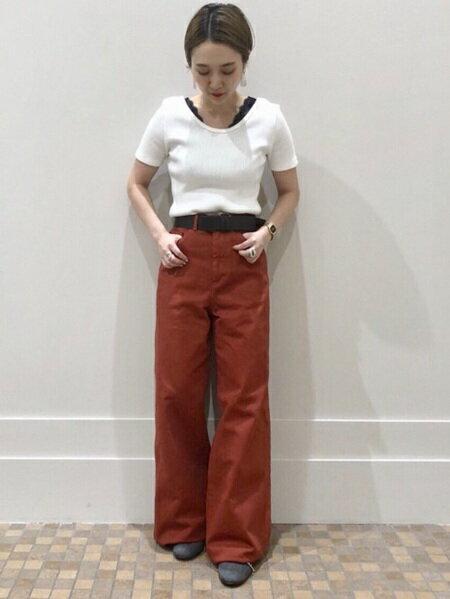 BEAMS WOMENさんのワイド/バギーパンツ「RED CARD / Glory CO パンツ レッドカード red card ray beams レイビームス 」を使ったコーディネートを紹介します。|ファッション通販楽天ブランドアベニュー(旧スタイライフ Stylife)25432