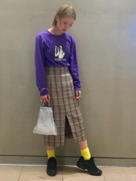 BEAMS WOMENさんのタイトスカート「Ray BEAMS / チェック フロントスリット タイトスカート レイビームス ビームス レディース」を使ったコーディネートを紹介します。|ファッション通販楽天ブランドアベニュー(旧スタイライフ Stylife)25725