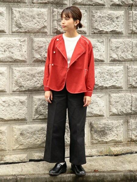 BEAMS WOMENさんのブルゾン「BEAMS BOY / ポリエステルコットン ツイル アシメ クルーネック ブルゾン ビームス ボーイ ノーカラー ジャケット」を使ったコーディネートを紹介します。 ファッション通販楽天ブランドアベニュー(旧スタイライフ Stylife)28019