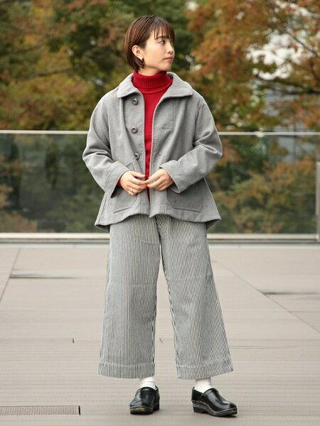 BEAMS WOMENのBEAMS BOY / デニム ワイド イージーパンツを使ったコーディネートを紹介します。 Rakuten Fashion(楽天ファッション/旧楽天ブランドアベニュー)28021