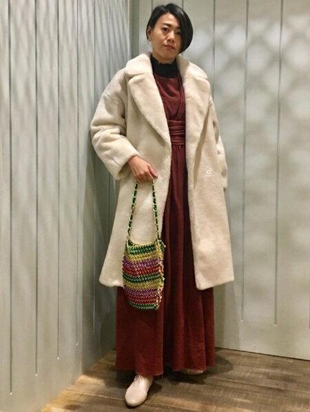 BEAMS WOMENさんのトートバッグ「CONTROL FREAK / ボーダー チェーン バッグ コントロール フリーク レイビームス Ray BEAMS」を使ったコーディネートを紹介します。|ファッション通販楽天ブランドアベニュー(旧スタイライフ Stylife)28816