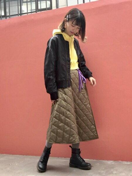 BEAMS WOMENさんのショートブーツ/ブーティー「Dr.Martens / PASCAL パスカル 8ホール ブーツ レイ ビームス」を使ったコーディネートを紹介します。|ファッション通販楽天ブランドアベニュー(旧スタイライフ Stylife)29795