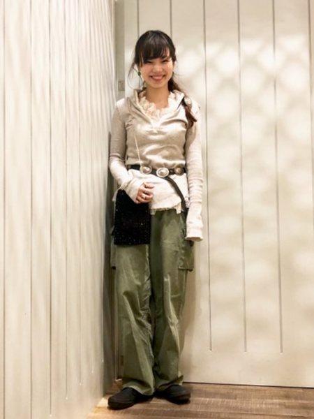 BEAMS WOMENさんのトートバッグ「maturely / Beads Tote & Shoulder Bag マチュアリー BEAMS BOY ビームス ボーイ レディース バッグ ショルダー オケージョン」を使ったコーディネートを紹介します。|ファッション通販楽天ブランドアベニュー(旧スタイライフ Stylife)32097