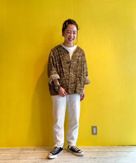 BEAMS WOMENさんのTシャツ「Healthknit × BEAMS BOY / ヴィンテージ ブロード リブ Tシャツ ヘルスニット ビームス ボーイ レディース シンプル」を使ったコーディネートを紹介します。|ファッション通販楽天ブランドアベニュー(旧スタイライフ Stylife)34028