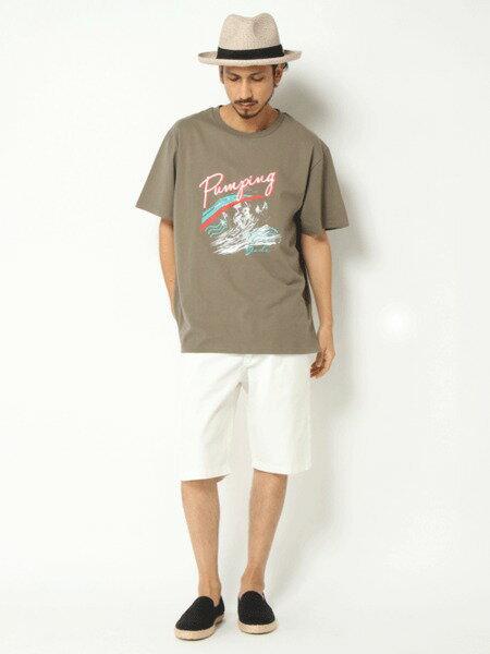 VENCE EXCHANGEさんのTシャツ「ヴィンテージサーフロゴTシャツ」を使ったコーディネートを紹介します。|ファッション通販楽天ブランドアベニュー(旧スタイライフ Stylife)25532