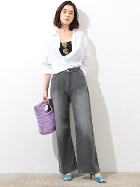 ROPE'さんのかごバッグ「【CATERINA】スクエアかごバッグ」を使ったコーディネートを紹介します。|ファッション通販楽天ブランドアベニュー(旧スタイライフ Stylife)20036