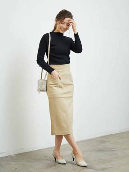 ROPE' PICNICのDカンベルトタックフレアスカートを使ったコーディネートを紹介します。|Rakuten Fashion(楽天ファッション/旧楽天ブランドアベニュー)29658