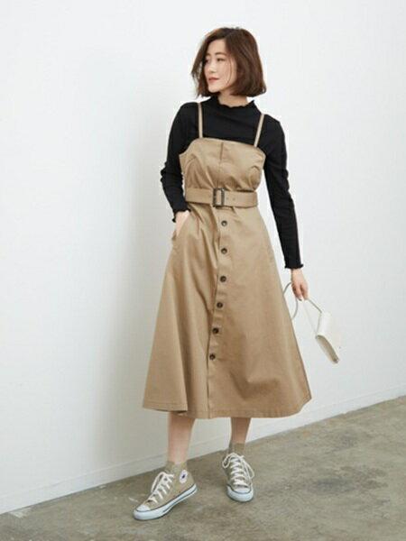ROPE' PICNICさんのジャンパースカート「トレンチジャンパースカート」を使ったコーディネートを紹介します。 ファッション通販楽天ブランドアベニュー(旧スタイライフ Stylife)30412