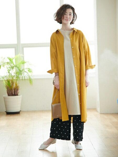 ROPE' PICNICのフレンチリネン混シャツワンピースを使ったコーディネートを紹介します。|Rakuten Fashion(楽天ファッション/旧楽天ブランドアベニュー)33252