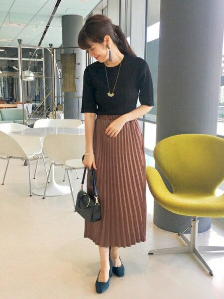 B:MING LIFE STORE by BEAMSさんのプリーツスカート/ギャザースカート「ビーミング by ビームス / プリーツ マキシスカート 18AW BEAMS」を使ったコーディネートを紹介します。|ファッション通販楽天ブランドアベニュー(旧スタイライフ Stylife)26112