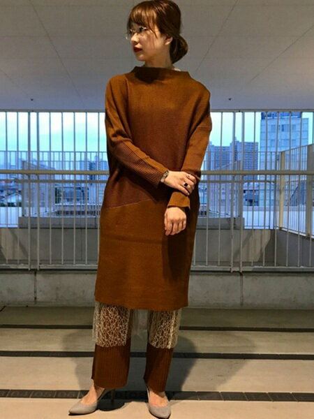 ADAM ET ROPE'さんのパンツその他「リブニットパンツ」を使ったコーディネートを紹介します。|ファッション通販楽天ブランドアベニュー(旧スタイライフ Stylife)14893