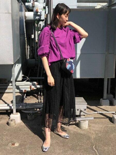 ADAM ET ROPE'さんのスカートその他「ラッセルレースプリーツスカート」を使ったコーディネートを紹介します。|ファッション通販楽天ブランドアベニュー(旧スタイライフ Stylife)20374