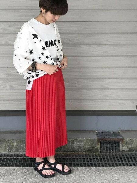 ADAM ET ROPE'さんのスカートその他「リネンライクIラインプリーツスカート」を使ったコーディネートを紹介します。|ファッション通販楽天ブランドアベニュー(旧スタイライフ Stylife)22874