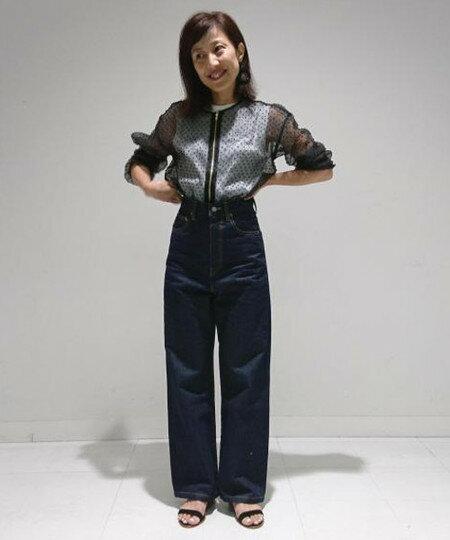 ADAM ET ROPE'さんのジーンズその他「ストレートルーズデニム」を使ったコーディネートを紹介します。|ファッション通販楽天ブランドアベニュー(旧スタイライフ Stylife)24717