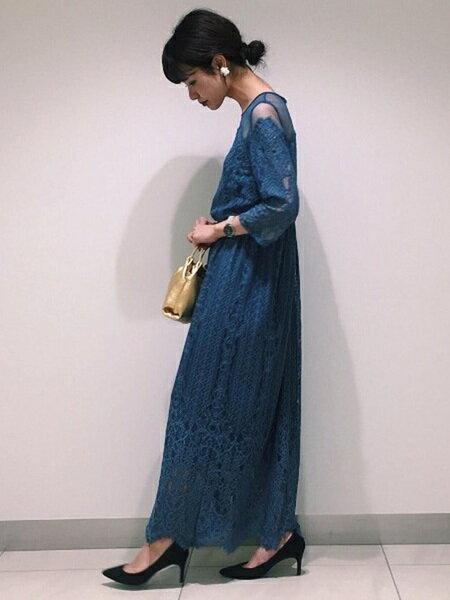 ADAM ET ROPE'さんのワンピースその他「チュール×パネルレースドレス」を使ったコーディネートを紹介します。|ファッション通販楽天ブランドアベニュー(旧スタイライフ Stylife)25754