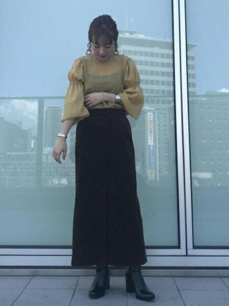 ADAM ET ROPE'のミディー丈ショートブーツを使ったコーディネートを紹介します。|Rakuten Fashion(楽天ファッション/旧楽天ブランドアベニュー)26222