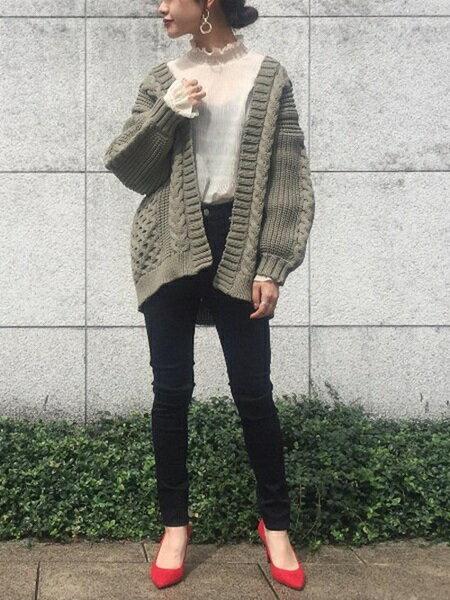 ADAM ET ROPE'のボロネーゼパンプスを使ったコーディネートを紹介します。|Rakuten Fashion(楽天ファッション/旧楽天ブランドアベニュー)26454