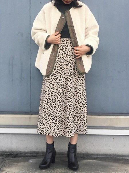 ADAM ET ROPE'さんのスカートその他「レオパードAラインスカート」を使ったコーディネートを紹介します。|ファッション通販楽天ブランドアベニュー(旧スタイライフ Stylife)27372