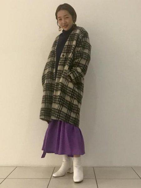 ADAM ET ROPE'さんのチェスターコート「モヘヤシャギーオーバーサイズコート」を使ったコーディネートを紹介します。 ファッション通販楽天ブランドアベニュー(旧スタイライフ Stylife)27813