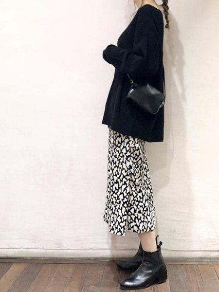 ADAM ET ROPE'さんのスカートその他「レオパードジャガードタイトスカート」を使ったコーディネートを紹介します。|ファッション通販楽天ブランドアベニュー(旧スタイライフ Stylife)28975
