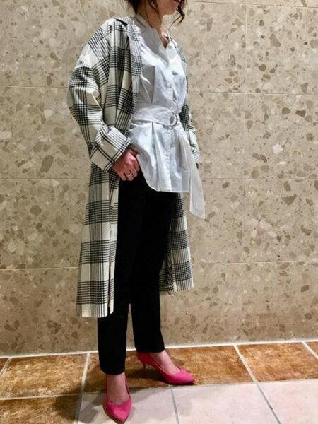 ADAM ET ROPE'のチェックベルテッドチェスターコートを使ったコーディネートを紹介します。 Rakuten Fashion(楽天ファッション/旧楽天ブランドアベニュー)30256