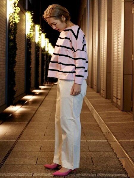 ADAM ET ROPE'の【雑誌掲載】カップインボロネーゼミドルヒールを使ったコーディネートを紹介します。 Rakuten Fashion(楽天ファッション/旧楽天ブランドアベニュー)30812