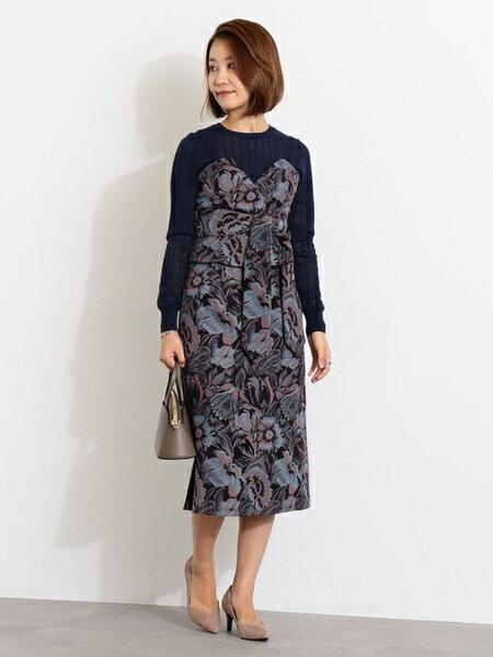 Jewel Changesさんのロングスカート「SMF ゴブランジャカードスカート」を使ったコーディネートを紹介します。|ファッション通販楽天ブランドアベニュー(旧スタイライフ Stylife)26097