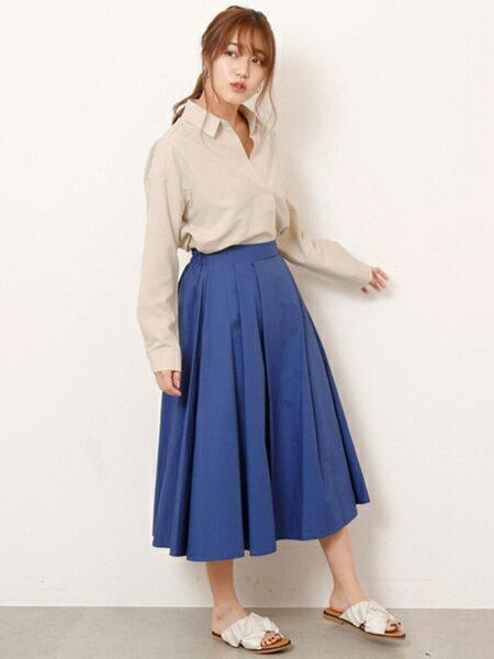 Ray Cassinさんのフレアスカート「タイプライターフレアスカート」を使ったコーディネートを紹介します。|ファッション通販楽天ブランドアベニュー(旧スタイライフ Stylife)20539