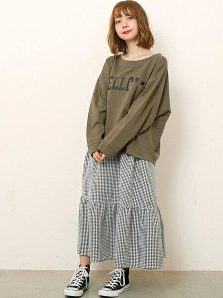 Ray Cassinのギンガムチェックキャミワンピースを使ったコーディネートを紹介します。|Rakuten Fashion(楽天ファッション/旧楽天ブランドアベニュー)21231