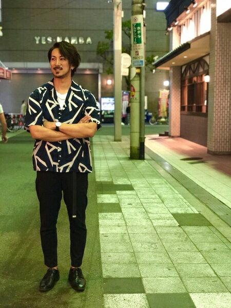 tk.TAKEO KIKUCHIさんのシャツ/ブラウスその他「ジオメトリック オープンカラーシャツ」を使ったコーディネートを紹介します。|ファッション通販楽天ブランドアベニュー(旧スタイライフ Stylife)22733