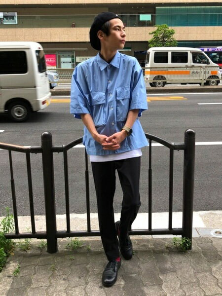 tk.TAKEO KIKUCHIさんのシャツ/ブラウスその他「ダブルポケットオーバーシャツ」を使ったコーディネートを紹介します。|ファッション通販楽天ブランドアベニュー(旧スタイライフ Stylife)22734