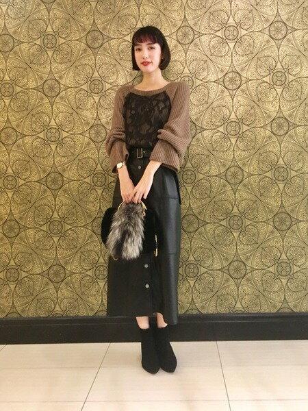 GRACE CONTINENTALのレースニットトップを使ったコーディネートを紹介します。 Rakuten Fashion(楽天ファッション/旧楽天ブランドアベニュー)40946
