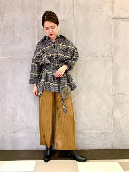 GRACE CONTINENTALのリバーウールジャケットを使ったコーディネートを紹介します。|Rakuten Fashion(楽天ファッション/旧楽天ブランドアベニュー)41760