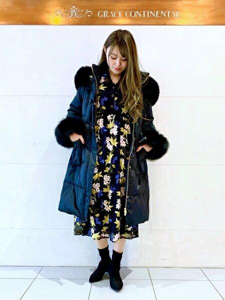 GRACE CONTINENTALのダッフルダウンコートを使ったコーディネートを紹介します。|Rakuten Fashion(楽天ファッション/旧楽天ブランドアベニュー)42480