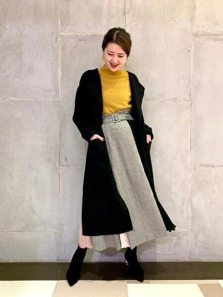 GRACE CONTINENTALのノーカラーリバーコートを使ったコーディネートを紹介します。|Rakuten Fashion(楽天ファッション/旧楽天ブランドアベニュー)42840