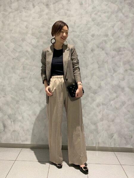 GRACE CONTINENTALのテンセルイージーパンツを使ったコーディネートを紹介します。|Rakuten Fashion(楽天ファッション/旧楽天ブランドアベニュー)43554