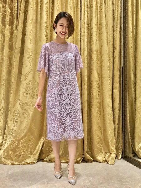 GRACE CONTINENTALのレース切替コード刺繍ワンピースを使ったコーディネートを紹介します。|Rakuten Fashion(楽天ファッション/旧楽天ブランドアベニュー)43564