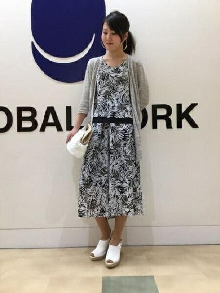 GLOBAL WORK シューズのコーディネート