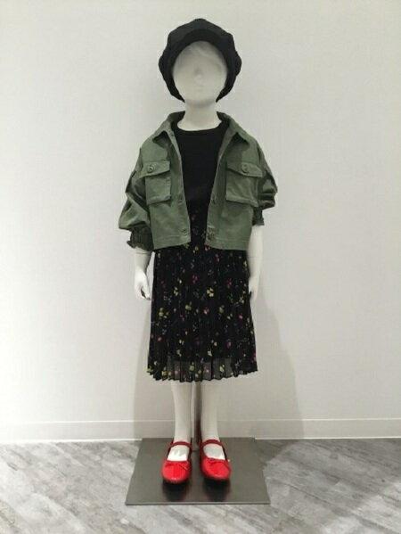 GLOBAL WORKさんのキッズスカート「(K)ムジガラプリーツスカート」を使ったコーディネートを紹介します。|ファッション通販楽天ブランドアベニュー(旧スタイライフ Stylife)32272